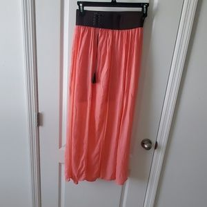 Peach and Brown Maxi skirt